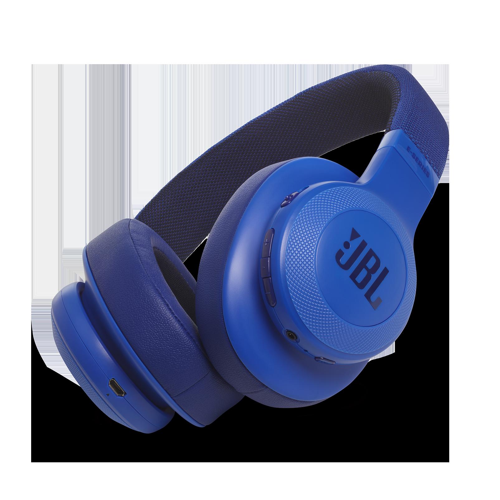 JBL E55BT - Blue - Wireless over-ear headphones - Hero