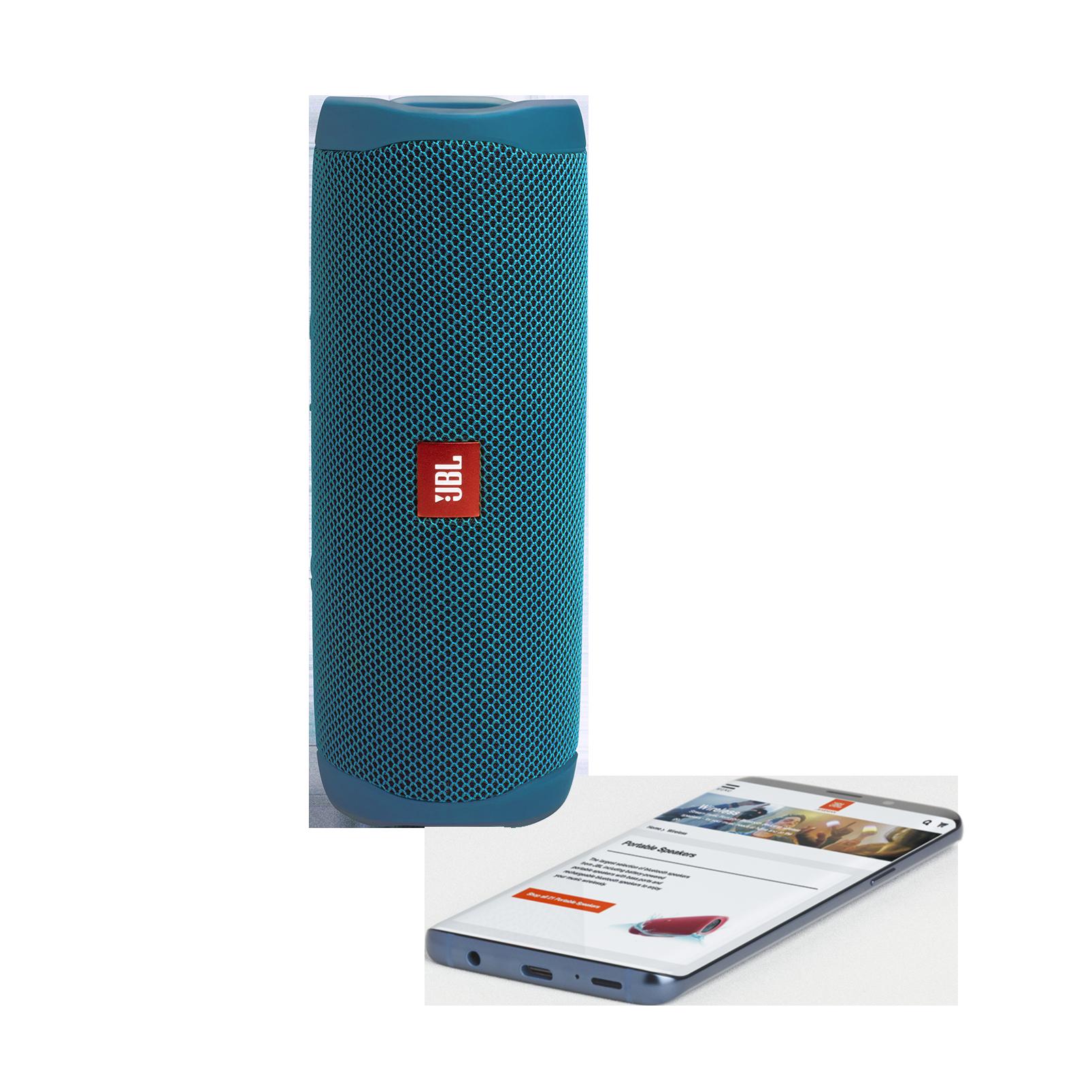 JBL Flip 5 Eco edition - Ocean Blue - Portable Speaker - Eco edition - Detailshot 1
