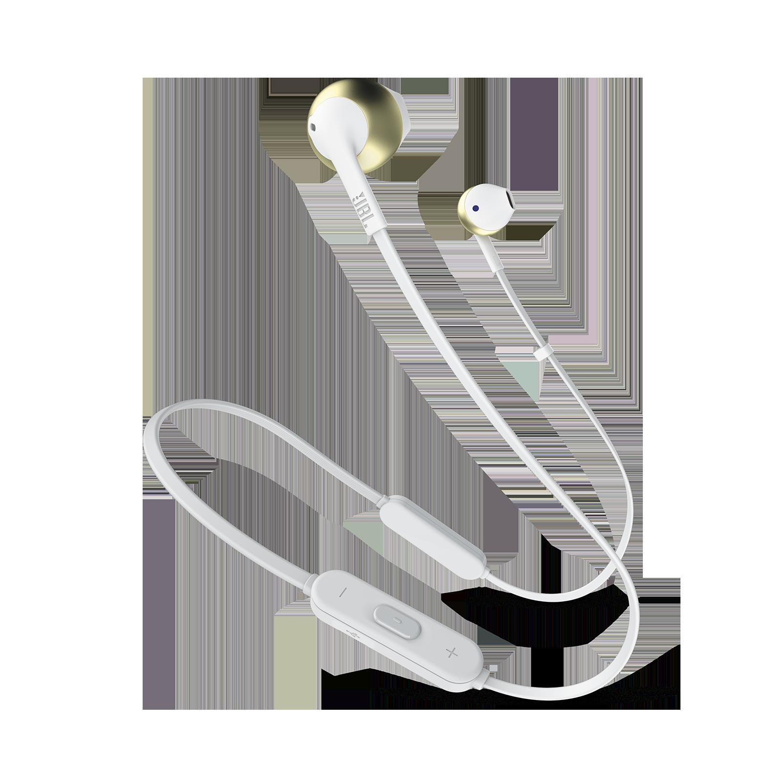 JBL TUNE 205BT - Champagne Gold - Wireless Earbud headphones - Hero