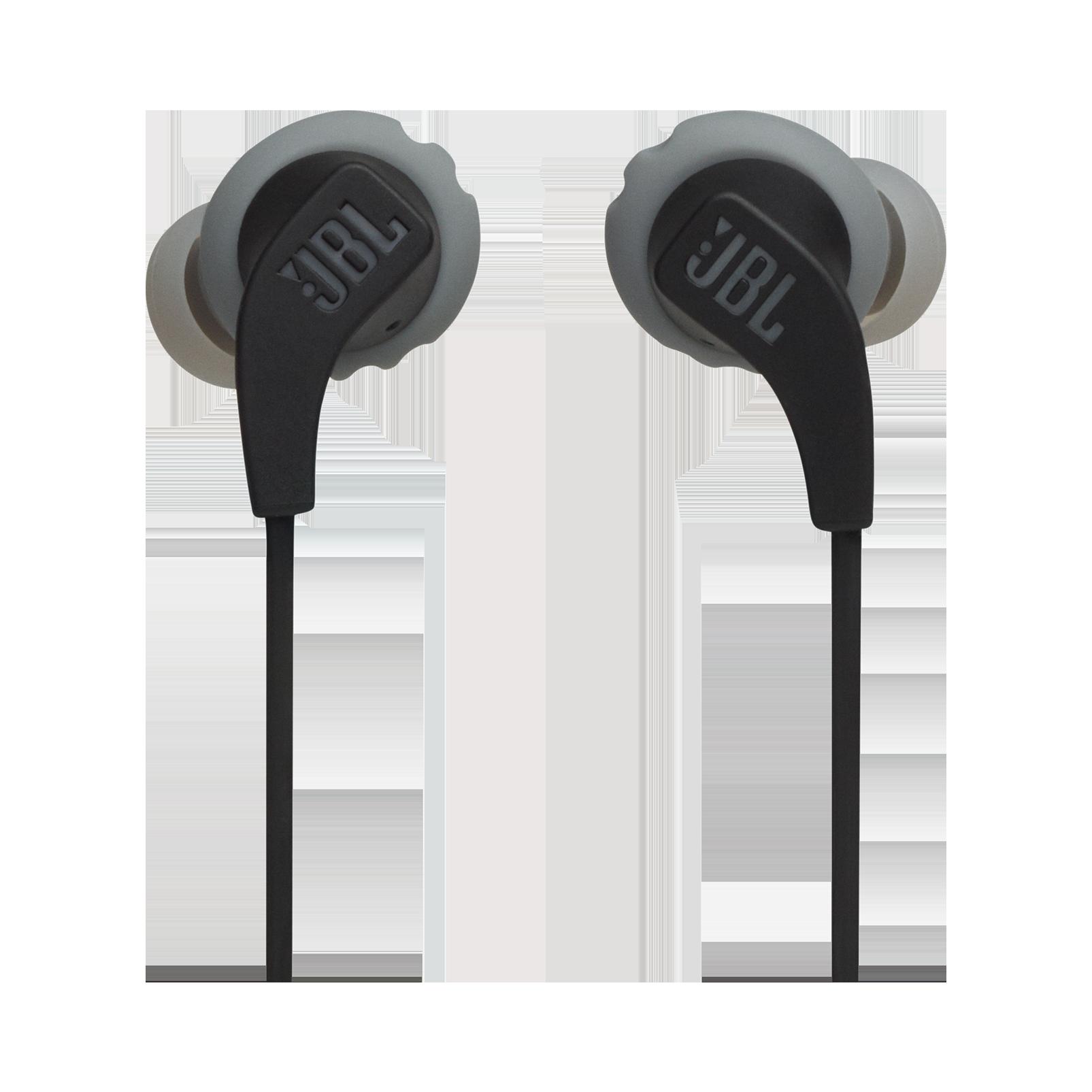 JBL Endurance RUNBT - Black - Sweatproof Wireless In-Ear Sport Headphones - Front