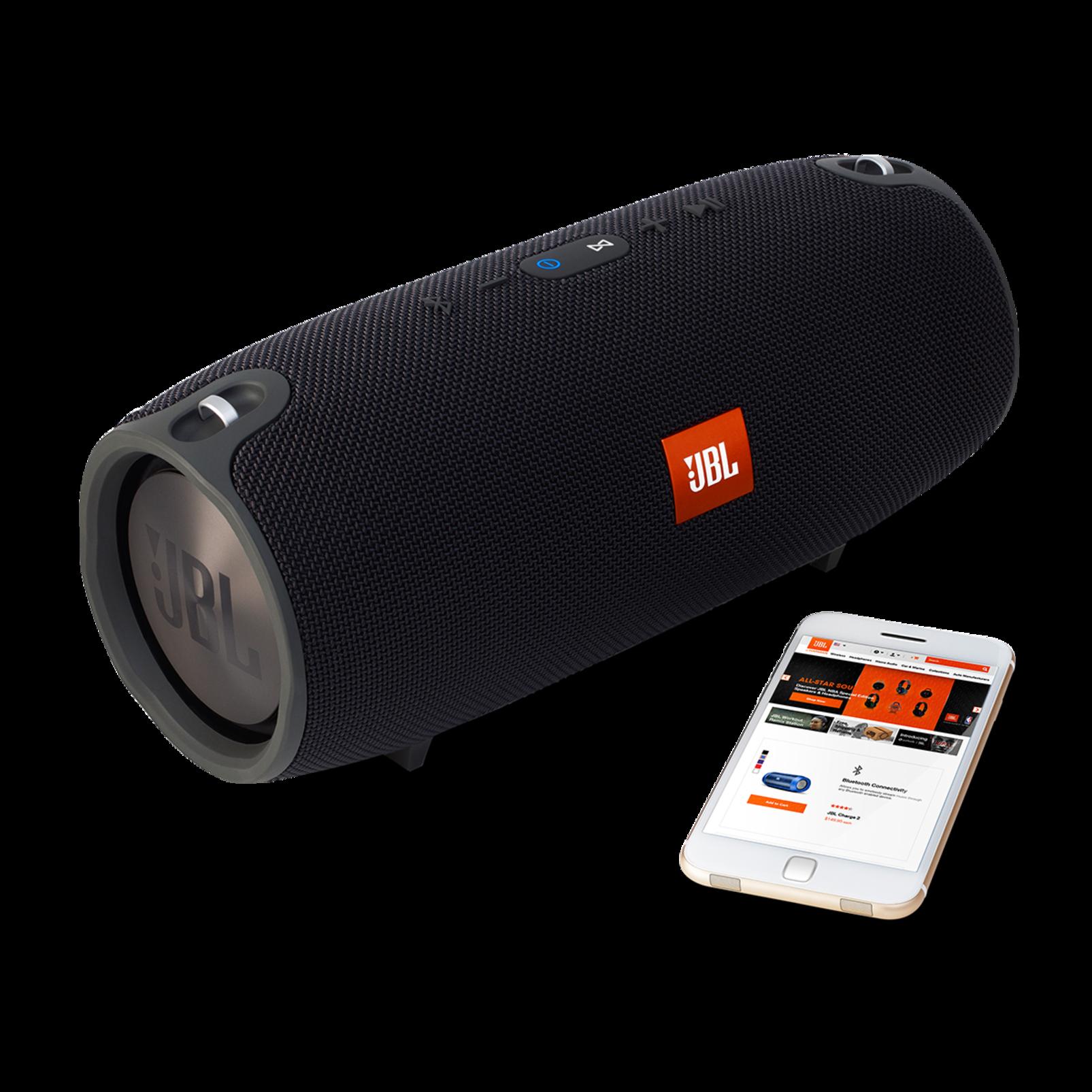 JBL Xtreme - Black - Splashproof portable speaker with ultra-powerful performance - Detailshot 4