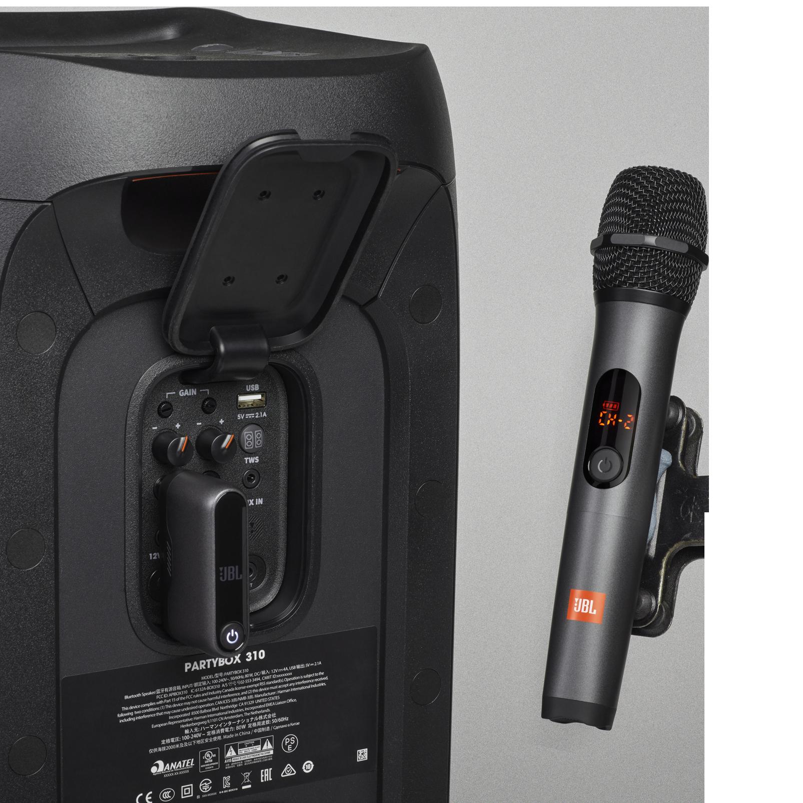 JBL Wireless Microphone Set - Black - Wireless two microphone system - Detailshot 1