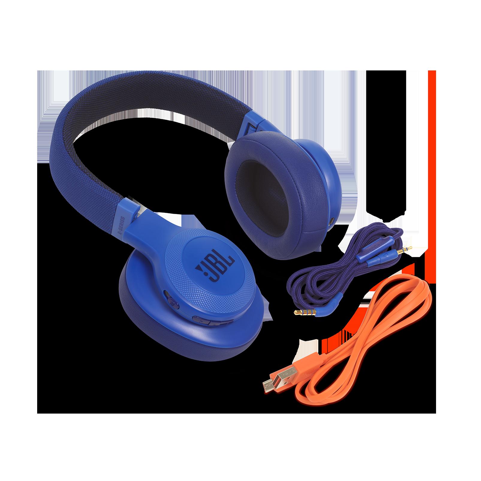 JBL E55BT - Blue - Wireless over-ear headphones - Detailshot 5