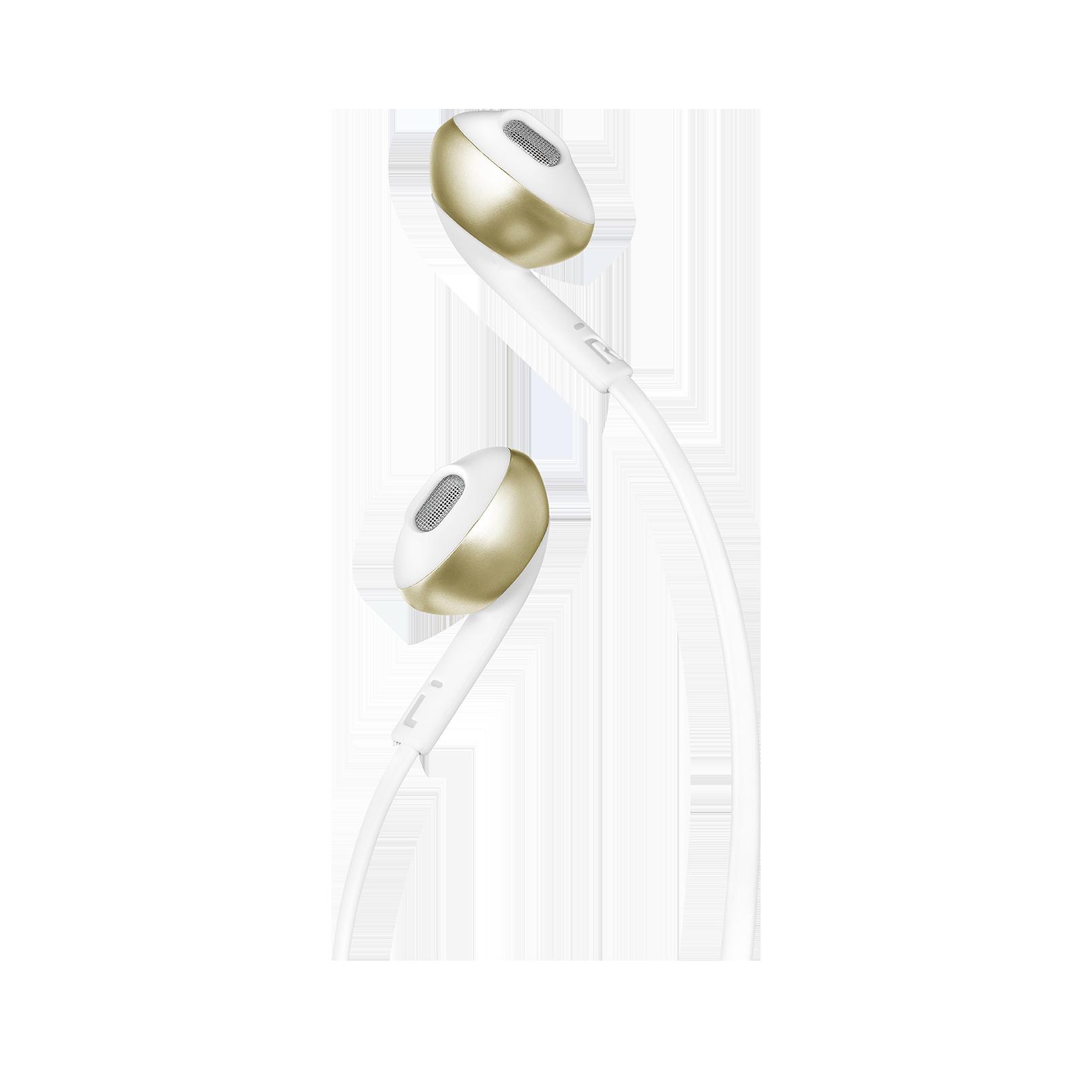 JBL TUNE 205BT - Champagne Gold - Wireless Earbud headphones - Detailshot 1