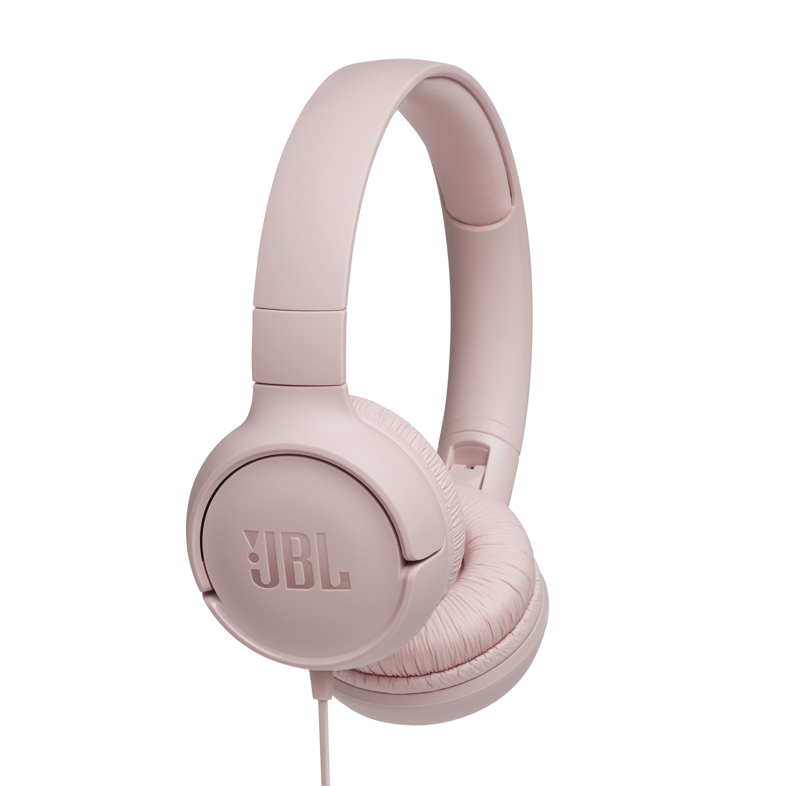 JBL TUNE 500 - Pink - Wired on-ear headphones - Hero