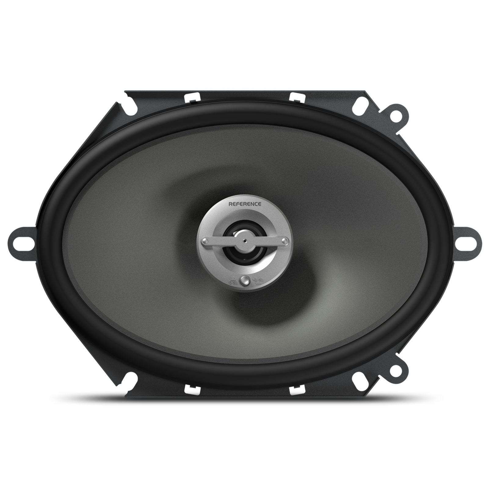"Reference 8602cfx - Black - A 6"" x 8"" / 5"" x 7"" custom-fit, two-way, high-fidelity coaxial speaker with true 4-ohm technology - Front"