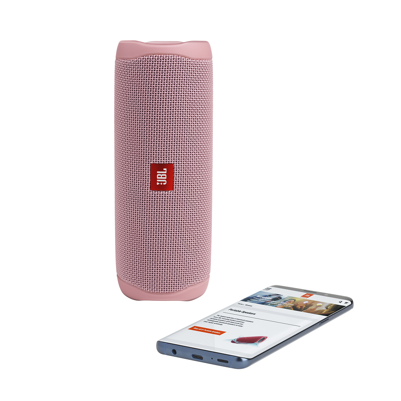JBL FLIP 5 - Pink - Portable Waterproof Speaker - Detailshot 2