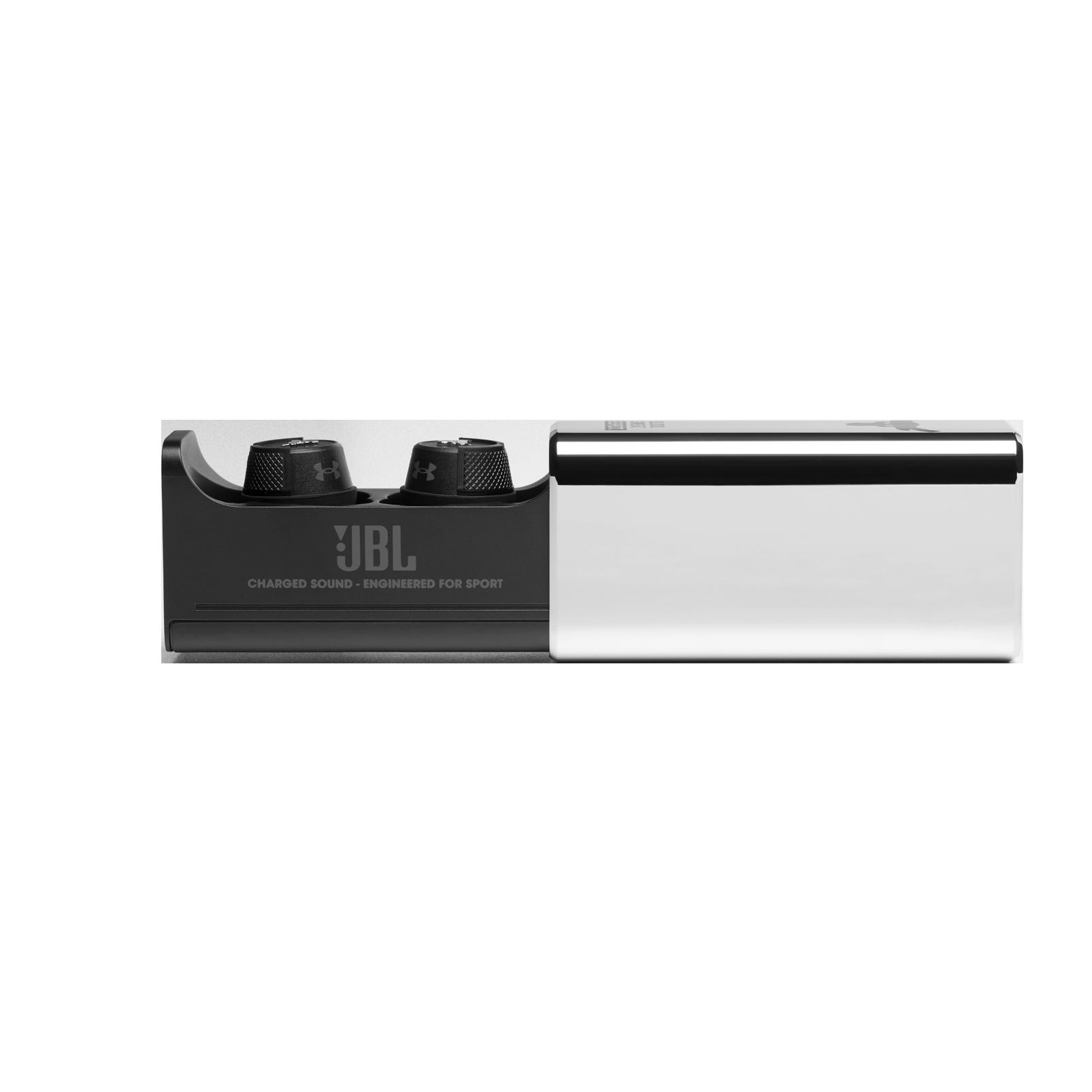 UA Project Rock True Wireless X - Engineered by JBL - Black - Waterproof true wireless sport earbuds - Detailshot 7
