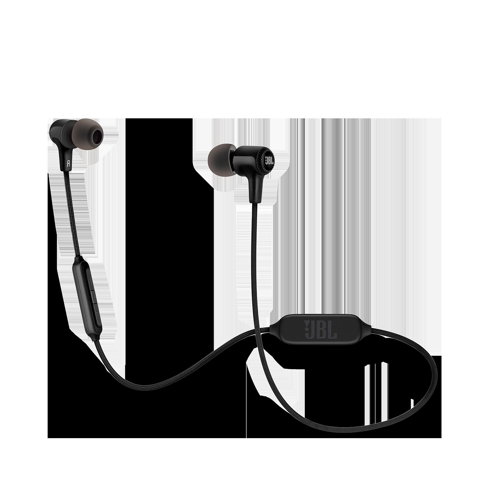 E25BT - Black - Wireless in-ear headphones - Hero