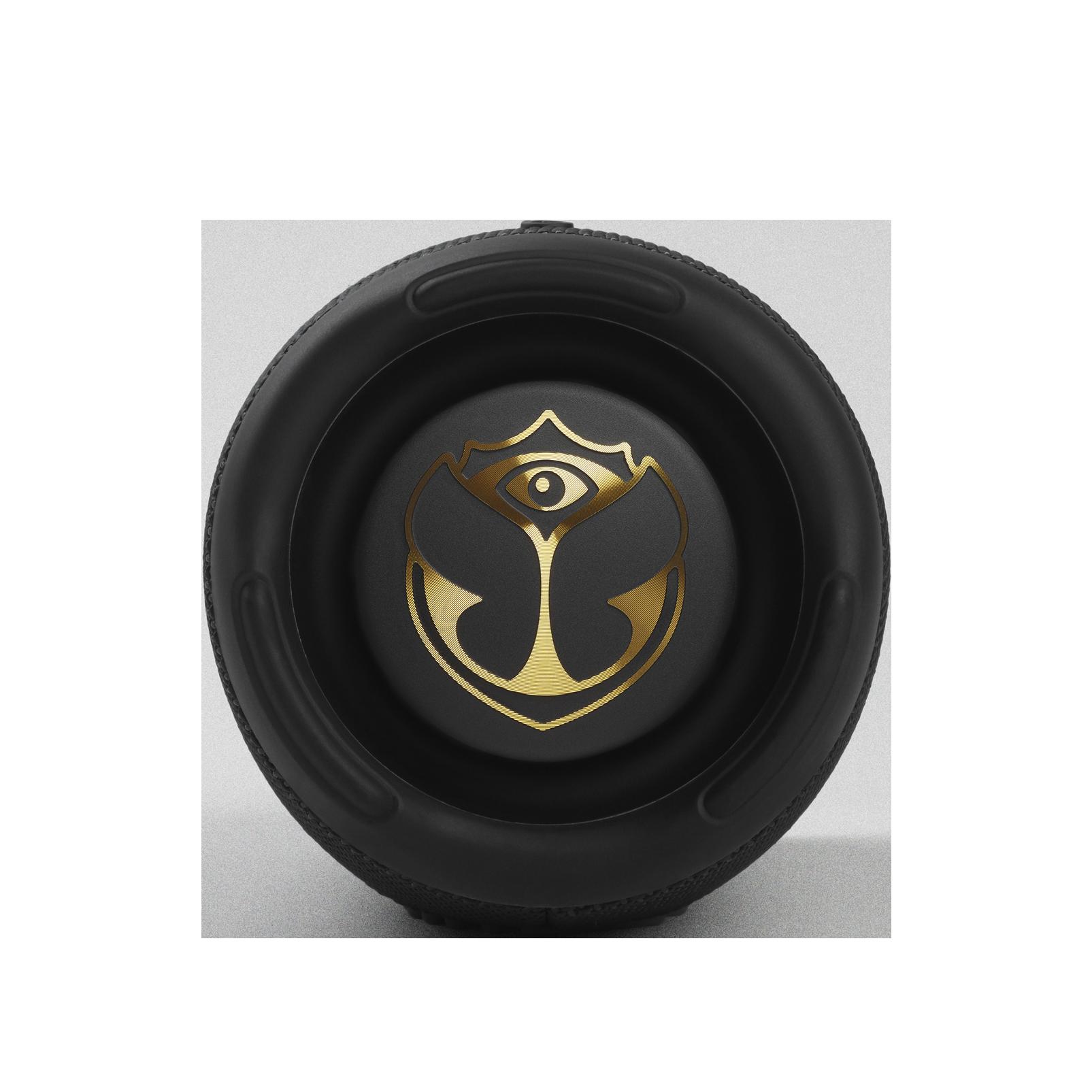 JBL Charge 5 Tomorrowland Edition - Black - Portable Waterproof Speaker with Powerbank - Left