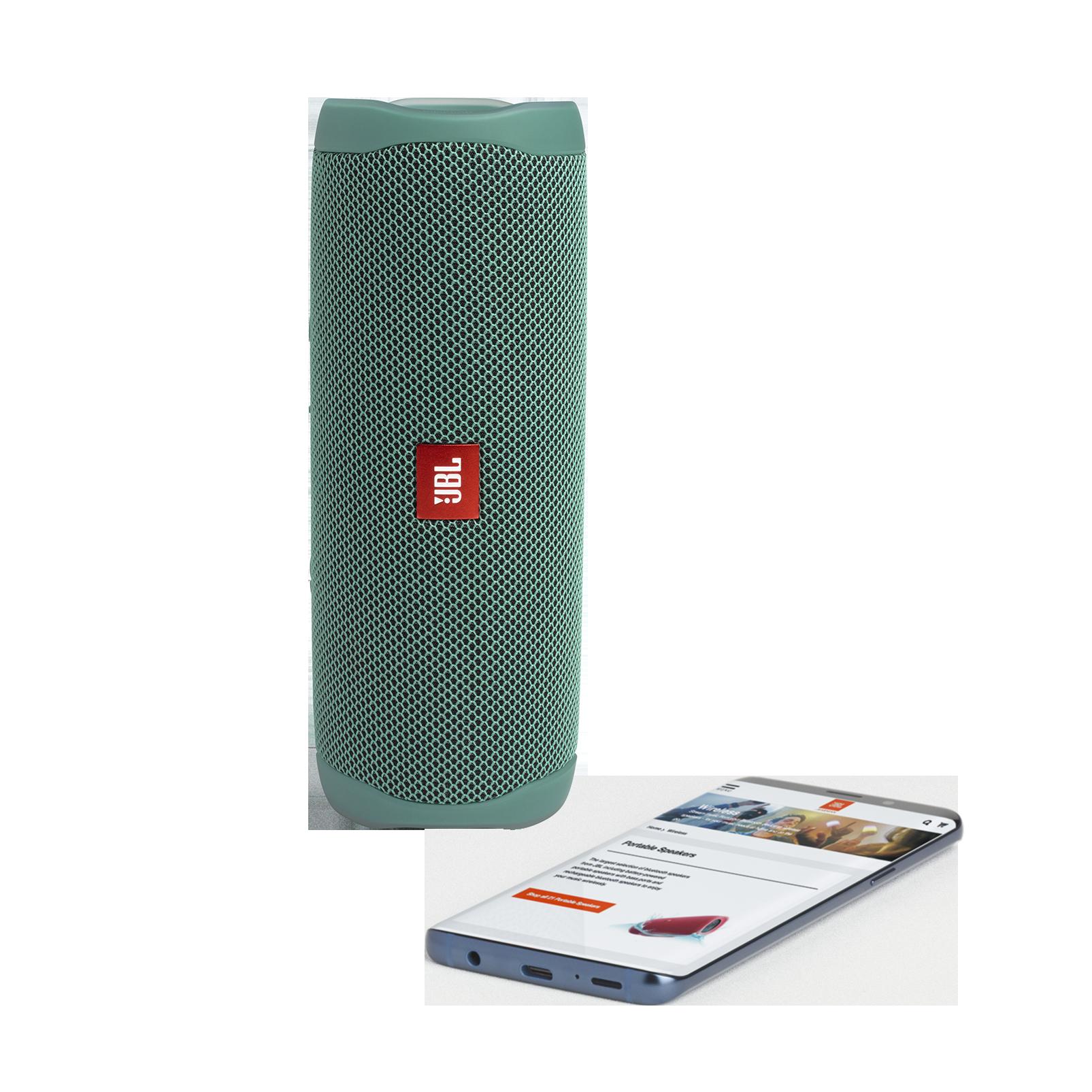 JBL Flip 5 Eco edition - Forest Green - Portable Speaker - Eco edition - Detailshot 1
