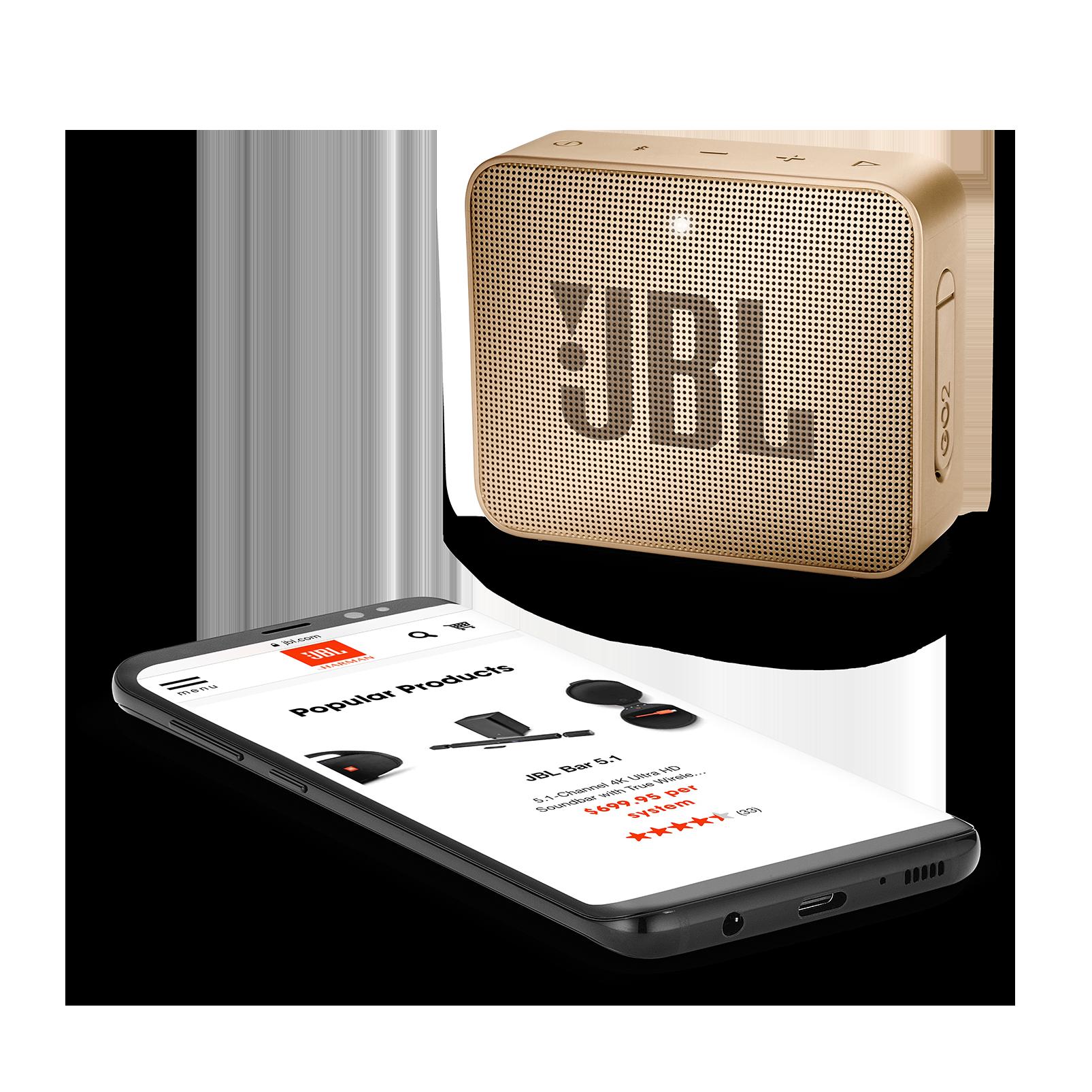 JBL GO 2 - Pearl Champagne - Portable Bluetooth speaker - Detailshot 3