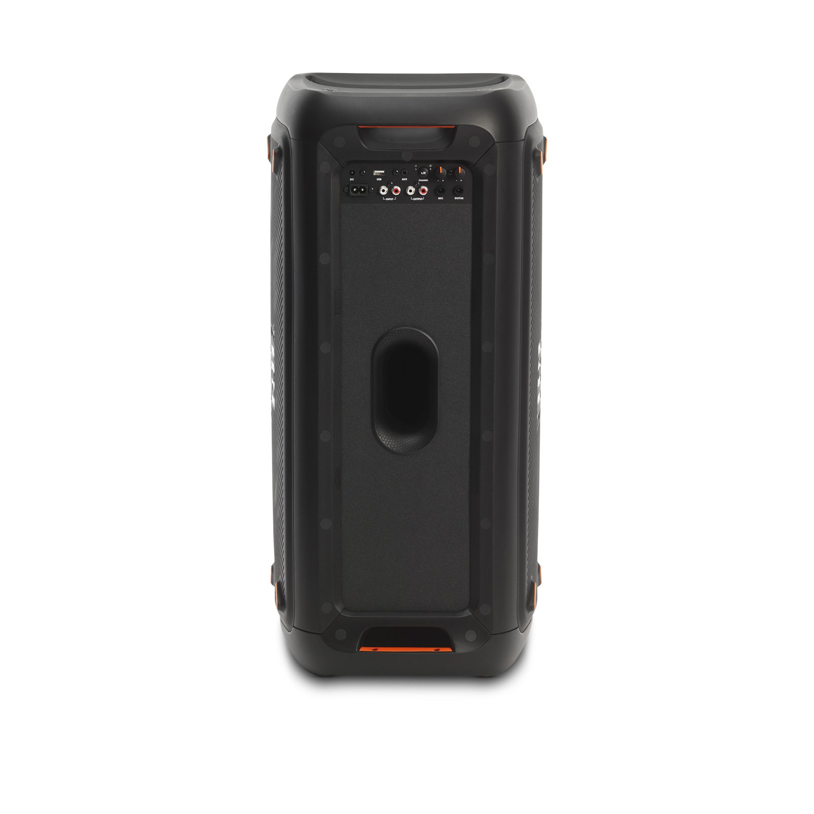 JBL PartyBox 300 - Black - Battery-powered portable Bluetooth party speaker with light effects - Back