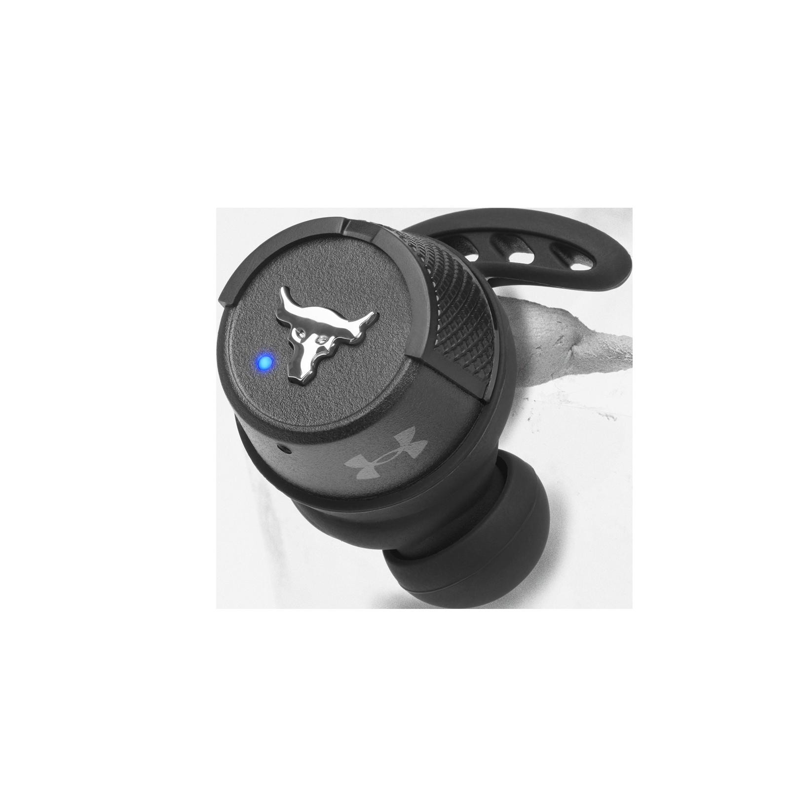 UA Project Rock True Wireless X - Engineered by JBL - Black - Waterproof true wireless sport earbuds - Detailshot 2