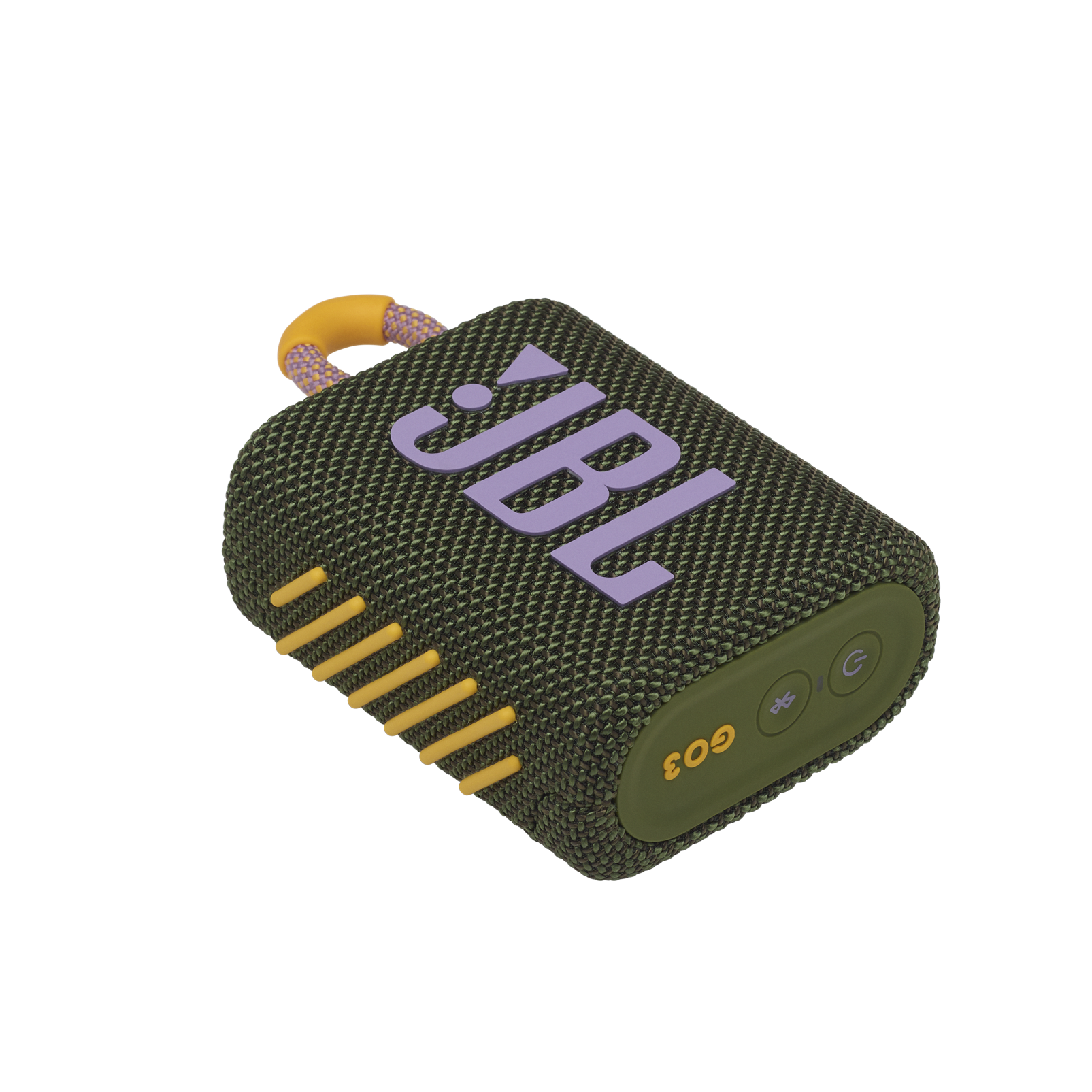JBL GO 3 - Green - Portable Waterproof Speaker - Detailshot 3