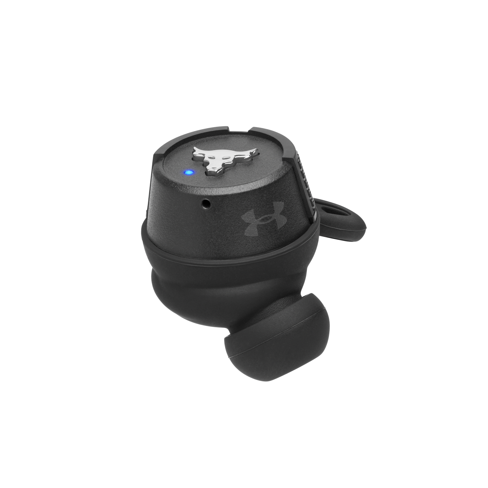 UA Project Rock True Wireless X - Engineered by JBL - Black - In-Ear Sport Headphones - Detailshot 4