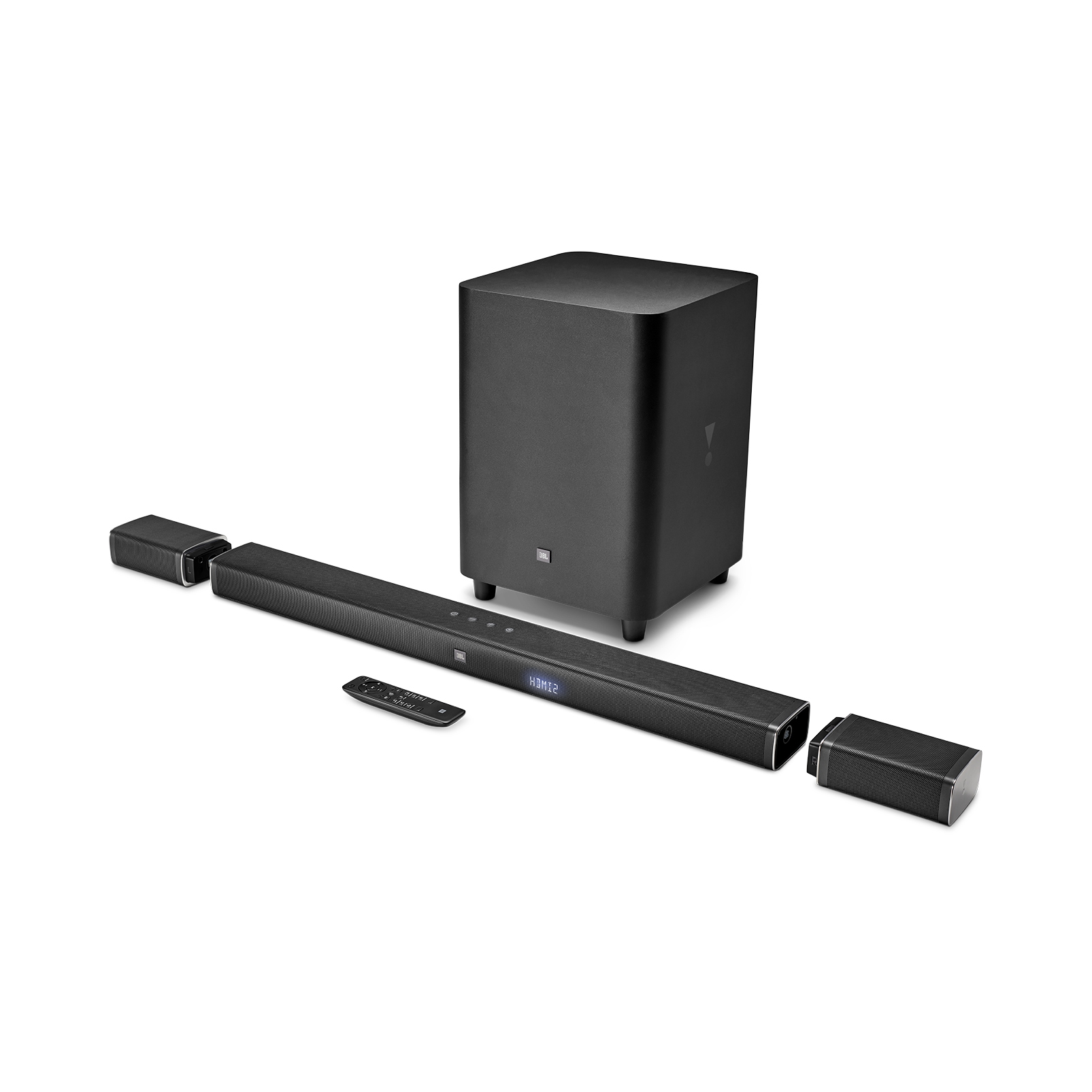 JBL Bar 5.1 - Black - 5.1-Channel 4K Ultra HD Soundbar with True Wireless Surround Speakers - Hero