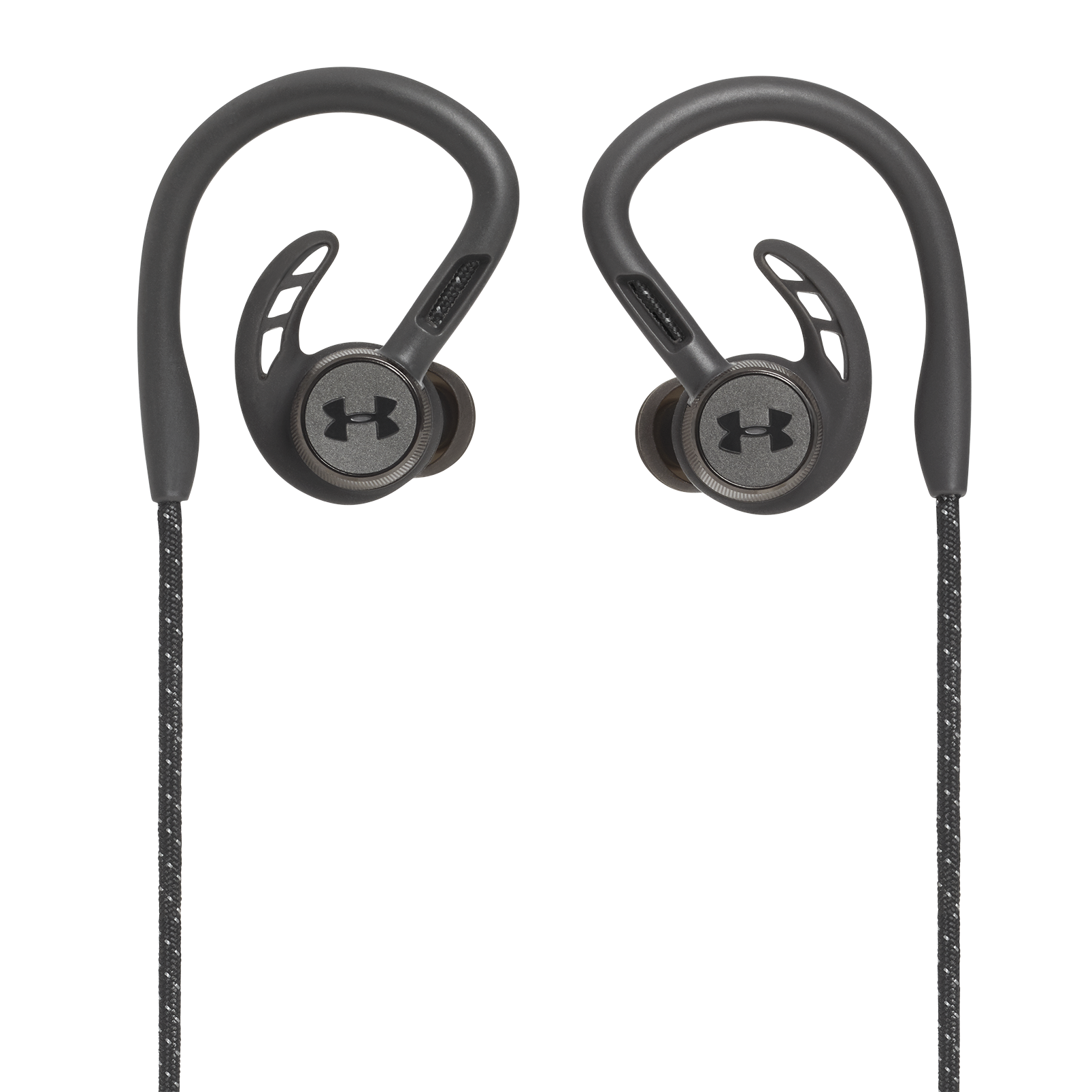 UA Sport Wireless PIVOT - Black - Secure-fitting wireless sport earphones with JBL technology and sound - Back