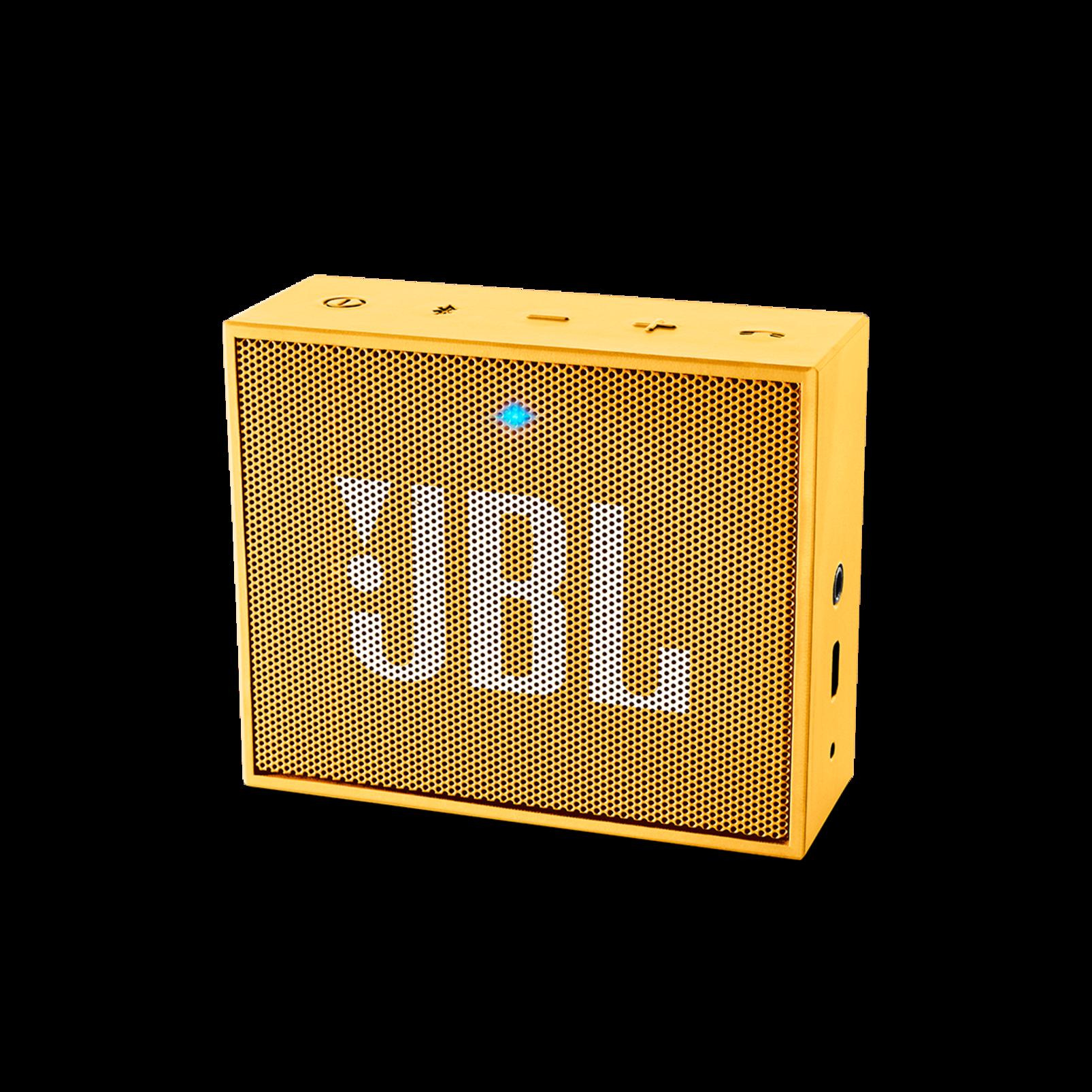 JBL GO - Yellow - Full-featured, great-sounding, great-value portable speaker - Hero