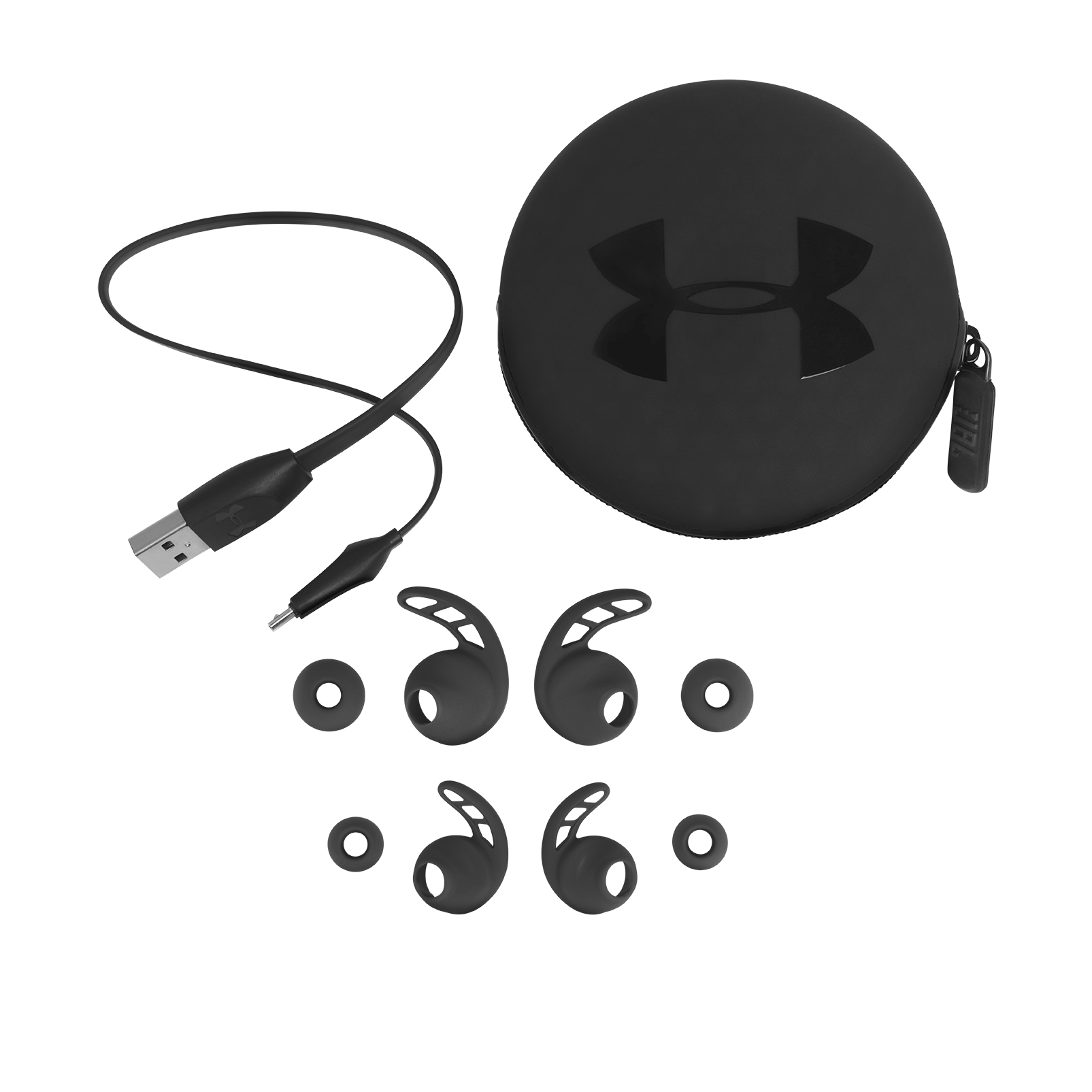 UA Sport Wireless PIVOT - Black - Secure-fitting wireless sport earphones with JBL technology and sound - Detailshot 5