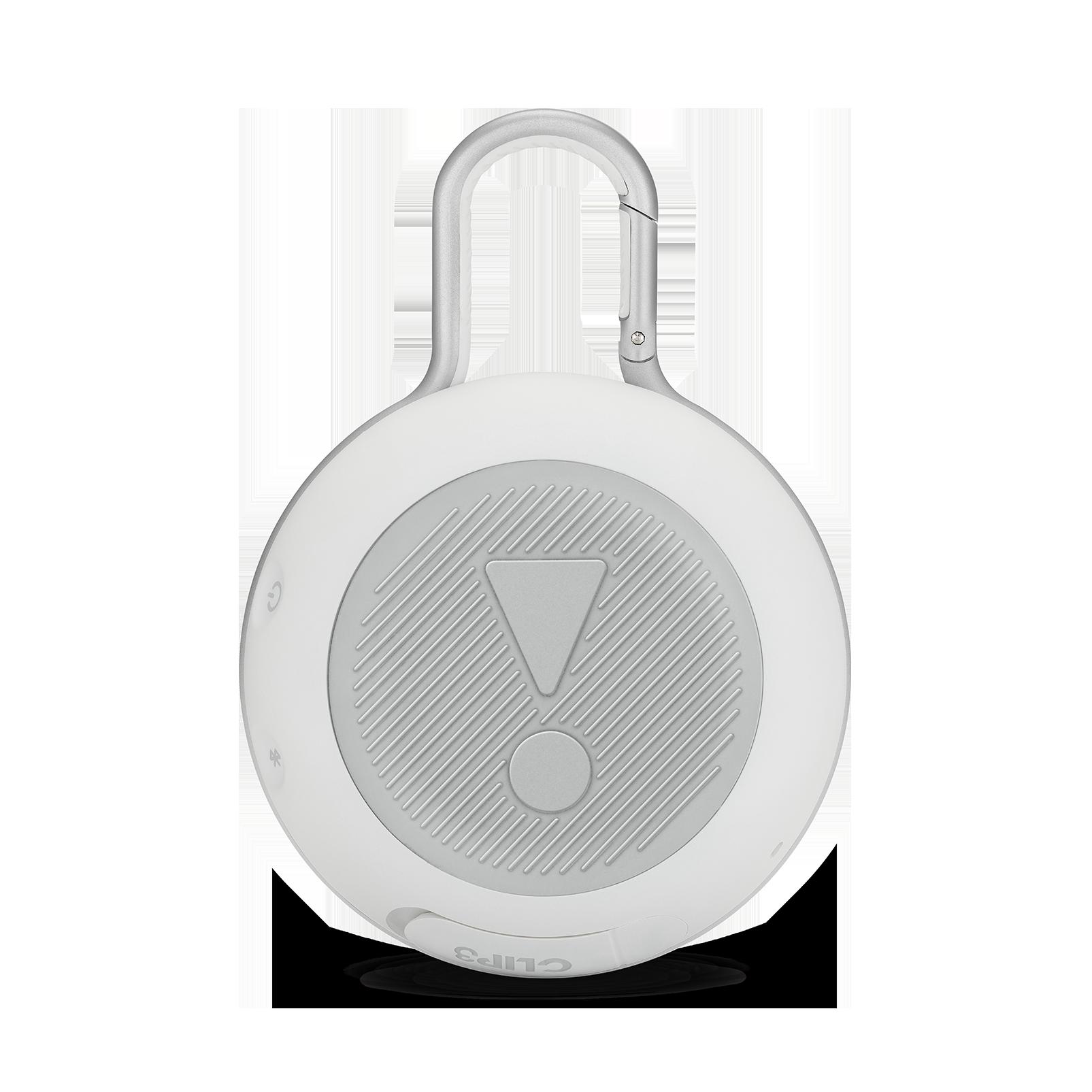 JBL CLIP 3 - Steel White - Portable Bluetooth® speaker - Back