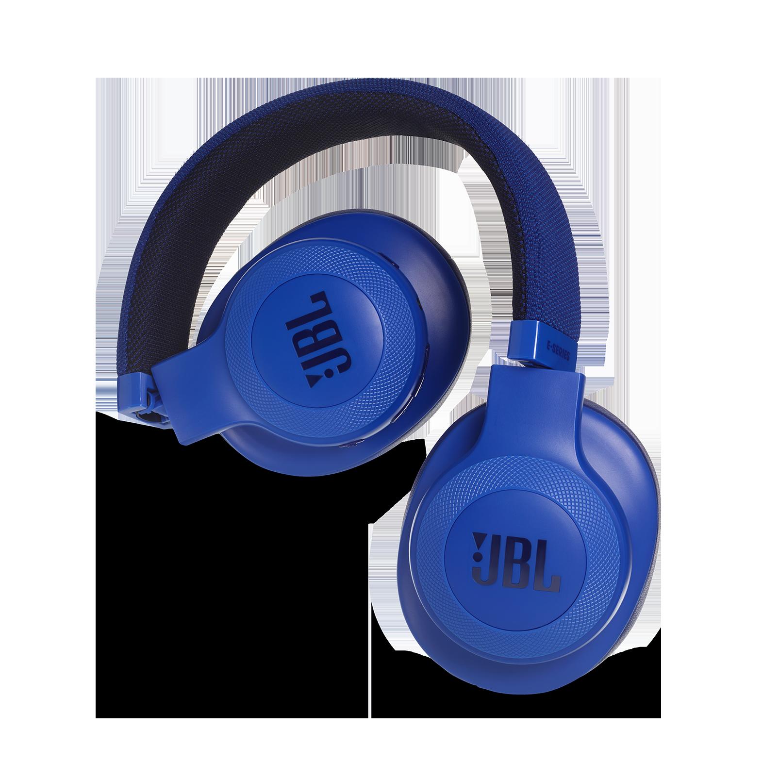 JBL E55BT - Blue - Wireless over-ear headphones - Detailshot 1